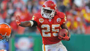 Jamaal Charles continued his fantasy dominance against the Giants today