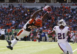 Did you know that A.J. Green has just 1 game of over 100 receiving yards this year?