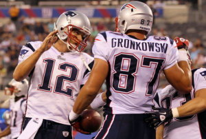 Look for Gronk to find the end-zone in the second half