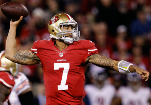 Kaepernick led the Niners to their 4th straight victory