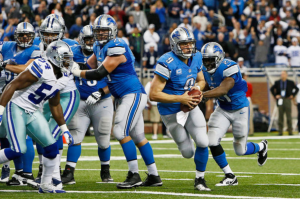 Stafford uses a fake spike to trick the Cowboys and squeak out a victory for Detroit